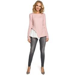 Textiel Dames Tops / Blousjes Moe M333 Asymmetrische gelaagde blouse - poeder
