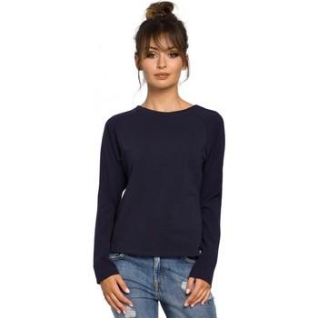 Textiel Dames Tops / Blousjes Be B047 Veelzijdige blouse - marineblauw