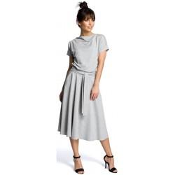 Textiel Dames Korte jurken Be B067 Uitlopende jurk - grijs