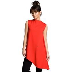 Textiel Dames Tops / Blousjes Be B069 Asymmetrische mouwloze top - rood