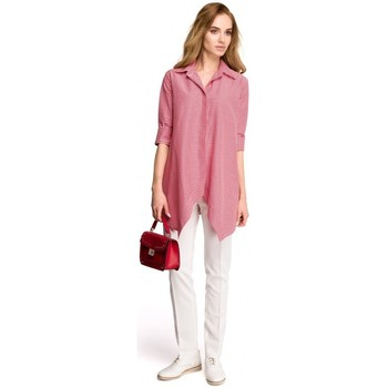 Textiel Dames Overhemden Style S106 Gingham loose fit overhemd - rood