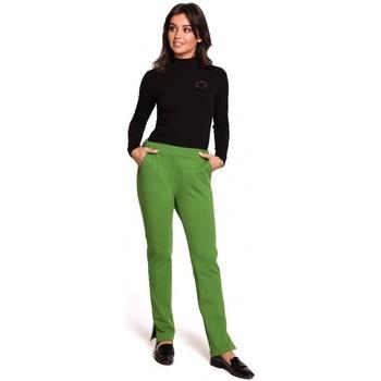 Textiel Dames Broeken / Pantalons Be B124 Joggerbroek met splitten - limoen