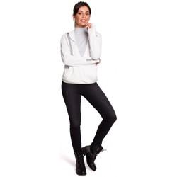Textiel Dames Sweaters / Sweatshirts Be B127 Hooded overslag pullover - ecru