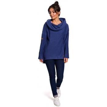 Textiel Dames Sweaters / Sweatshirts Be B131 Pullover top met hoge kraag - indigo