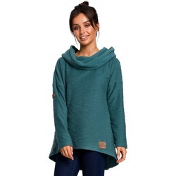 Textiel Dames Sweaters / Sweatshirts Be B131 Pullover top met hoge kraag - turkoois