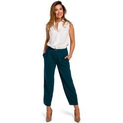 Textiel Dames 5 zakken broeken Style S172 Mouwloos shirt - ecru