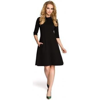 Textiel Dames Korte jurken Moe M279 Jurk met schildpadhals - zwart