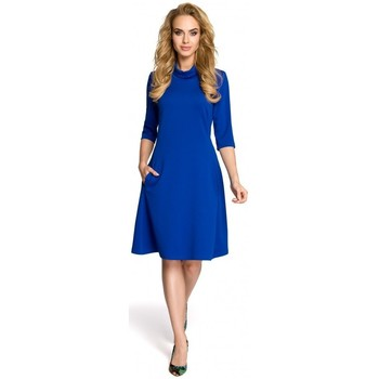 Textiel Dames Korte jurken Moe M279 Jurk met schildpadhals - koningsblauw