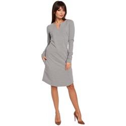 Textiel Dames Jurken Be B017 Sjaaljurk met inkeping - grijs