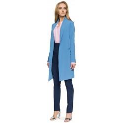 Textiel Dames Colberts Style S071 Lange blazer - blauw