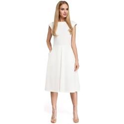 Textiel Dames Korte jurken Moe M296 Jurk met omgekeerde plooi - grijs