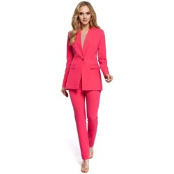 Textiel Dames Colberts Moe M304 Eenknoops jasje - roze
