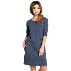 Textiel Dames Korte jurken Be B033 Box jurk - marine blauw