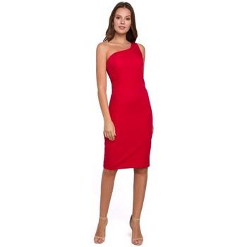 Textiel Dames Korte jurken Makover K004 Kokerjurk met v-hals - zwart