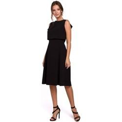 Textiel Dames Korte jurken Makover K006 Gebreide jurk met ruchedetails - heather