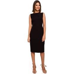Textiel Dames Korte jurken Style S216 Mouwloze kokerjurk - zwart