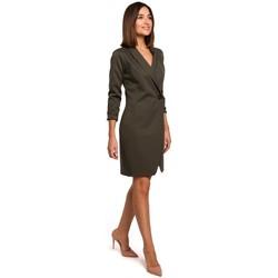 Textiel Dames Jurken Style S217 Blazer jurk - kaki