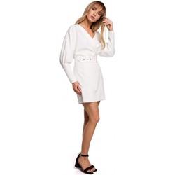 Textiel Dames Korte jurken Moe M501 Mini jurkje met pofmouwtjes - ecru