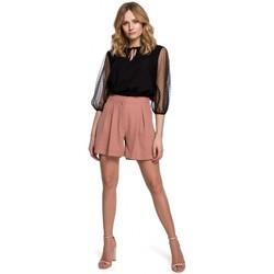 Textiel Dames Korte broeken / Bermuda's Makover K049 Ontspannen korte broek - roze