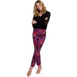 Textiel Dames Broeken / Pantalons Makover K053 Slanke broekspijpen met print - model 2