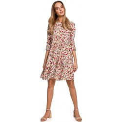 Textiel Dames Korte jurken Moe M521 Jurk met gefranjerde mouwen - model 5