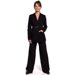 Textiel Dames Colberts Be B159 Gesp riem blazer - bruin