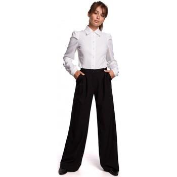 Textiel Dames Broeken / Pantalons Be B164 Broek met wijde pijpen - zwart