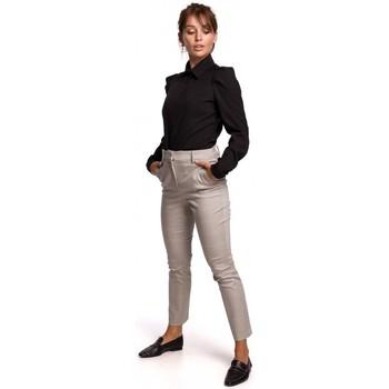 Textiel Dames Overhemden Be B165 Overhemd met pofmouw - zwart