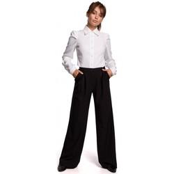 Textiel Dames Overhemden Be B165 Overhemd met pofmouw - wit