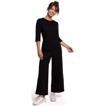 Textiel Dames Jumpsuites / Tuinbroeken Be B174 Jumpsuit met wijde pijpen - zwart