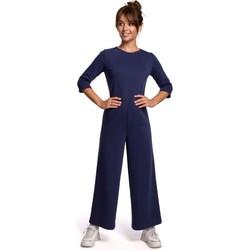 Textiel Dames Jumpsuites / Tuinbroeken Be B174 Jumpsuit met wijde pijpen - blauw