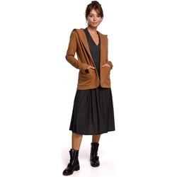 Textiel Dames Jasjes / Blazers Be B180 Blazer met kap in gebreid katoen - karamel