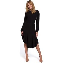 Textiel Dames Lange jurken Makover K077 Jurk met flamenco volant - zwart