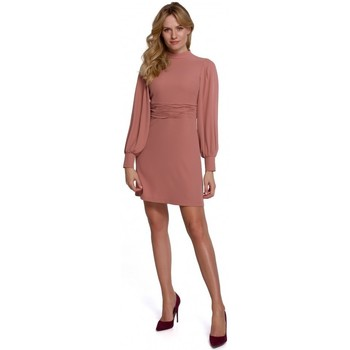 Textiel Dames Korte jurken Makover K077 Jurk met flamenco volant - rose