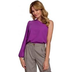 Textiel Dames Tops / Blousjes Makover K080 Een schouder top - lavendel