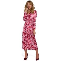 Textiel Dames Lange jurken Makover K083 Wikkeljurk met bloemenprint - model 2