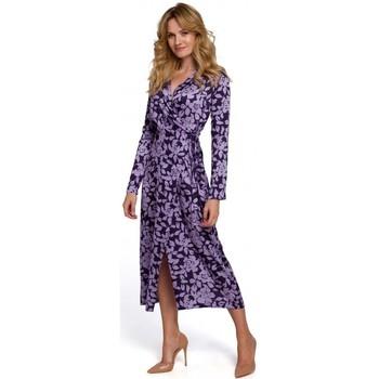 Textiel Dames Lange jurken Makover K083 Bloemenprint wikkeljurk - model 3