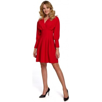 Textiel Dames Korte jurken Makover K087 Kimono mouw jurk - rood