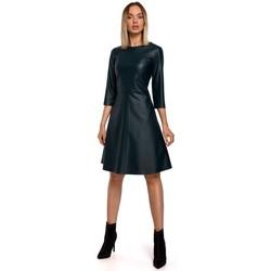 Textiel Dames Korte jurken Moe M542 Gebreide jurk met coltrui - baksteenrood