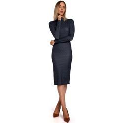 Textiel Dames Korte jurken Moe M544 Maxi jurk met been split - baksteenrood