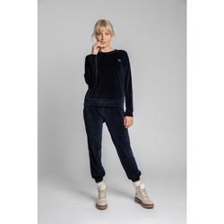 Textiel Dames Tops / Blousjes Lalupa LA011 Fluwelen Reglan mouw Pullover Top - marine blauw