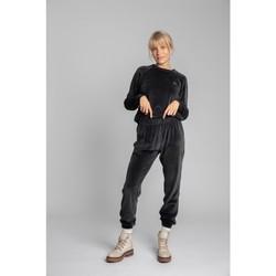 Textiel Dames Trainingsbroeken Lalupa LA012 Fluwelen Joggers - grafiet