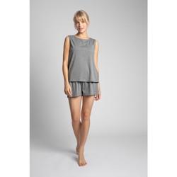 Textiel Dames Tops / Blousjes Lalupa LA015 Katoenen mouwloos topje - grijs