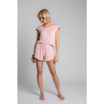 Textiel Dames Tops / Blousjes Lalupa LA023 Viscoze Top Met Ruches Mouwloos - roze