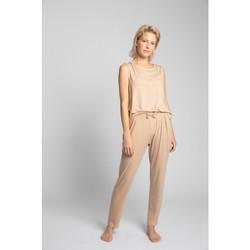 Textiel Dames Pyjama's / nachthemden Lalupa LA025 Viscose Pyjamabroek - cappuccino