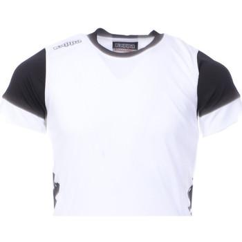 Textiel Jongens T-shirts korte mouwen Kappa  Wit