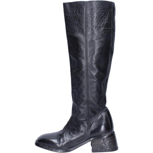 Schoenen Dames Hoge laarzen Moma Stivali Pelle Nero