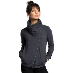 Textiel Dames Sweaters / Sweatshirts Be B071 sweatshirt met rits - grafiet