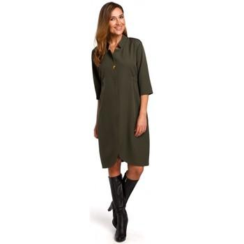 Textiel Dames Korte jurken Style S189 Blazerjurk - kaki