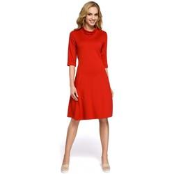 Textiel Dames Korte jurken Moe M279 Jurk met schildpadhals - rood